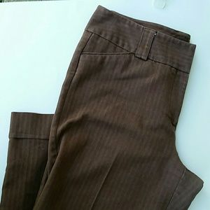 Dress barn dress pants brown size 12
